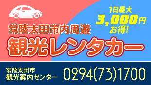 日立太田市内周遊観光レンタカー
